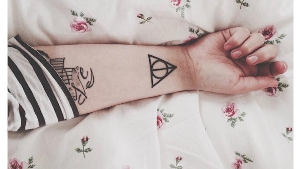 05ab9b729 13 Harry Potter Symbols You Need As Tattoos — PHOTOS