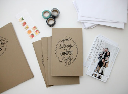 8 easy diy christmas cards to send this holiday season because why buy them if you can make them - Where To Buy Christmas Cards
