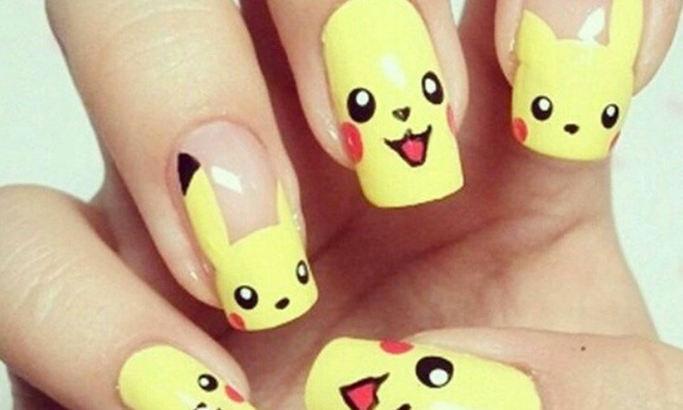 11 Pokemon Nails From Instagram So Your Mani Can Be The Raddest In The Land - 11 Pokemon Nails From Instagram So Your Mani Can Be The Raddest In