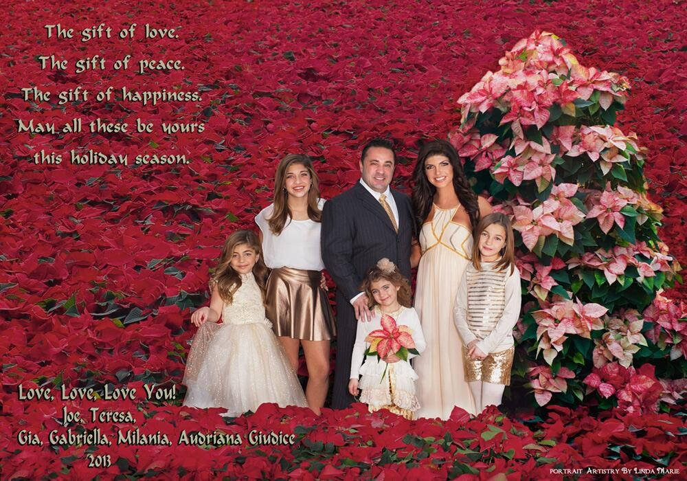 the giudice family 2013 christmas card is not very jolly we know why - Best Christmas Cards Ever