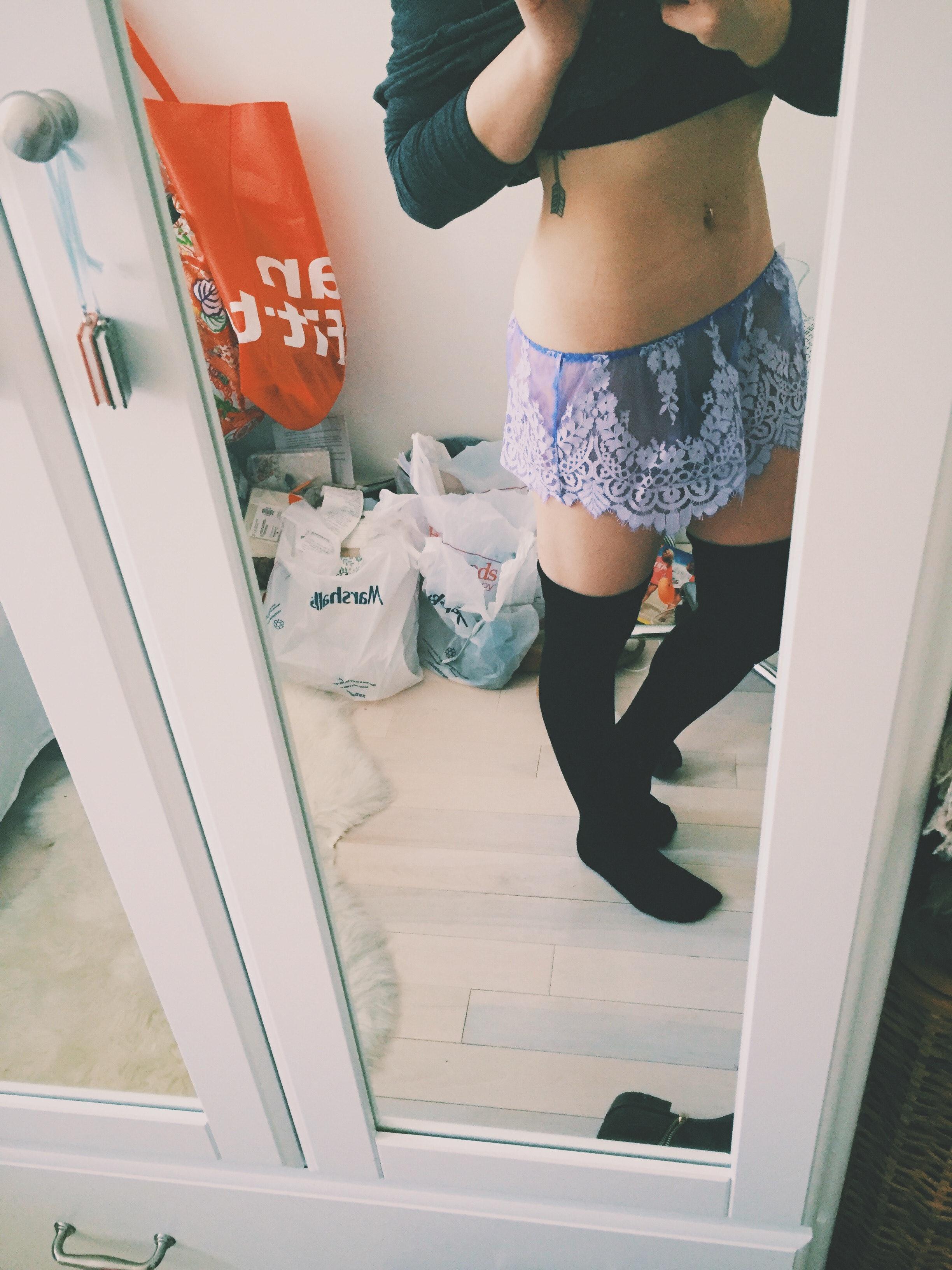 Brief milf boxer Lacy panties