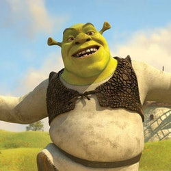 The ogre Shrek runs through the fields in the hit 2001 anti-fairytale, which is filled with adult jo...