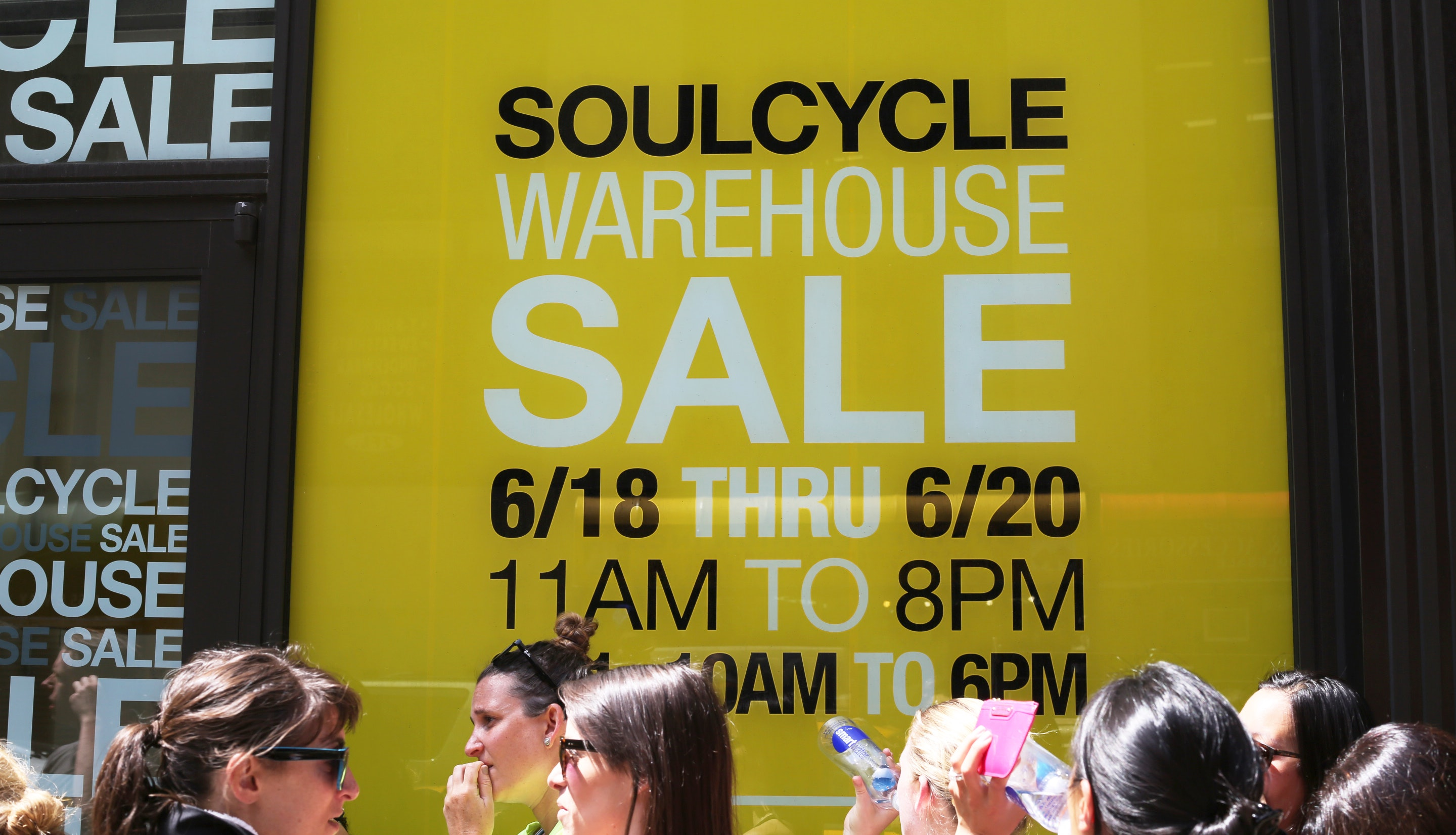 What The First SoulCycle Warehouse Sale Was Really Like, As Told By GIFs