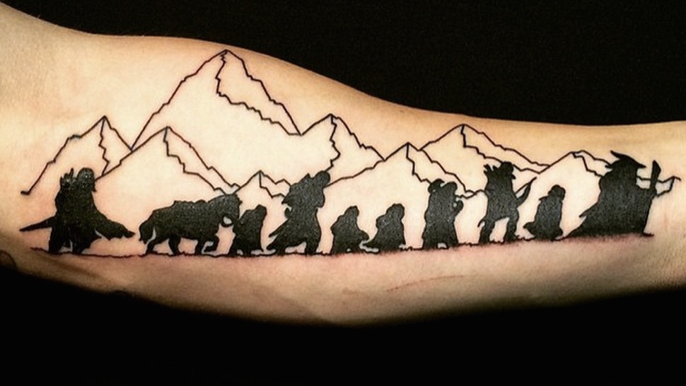 9 Timeless Lord Of The Rings Tattoos So Your Love For The Classic
