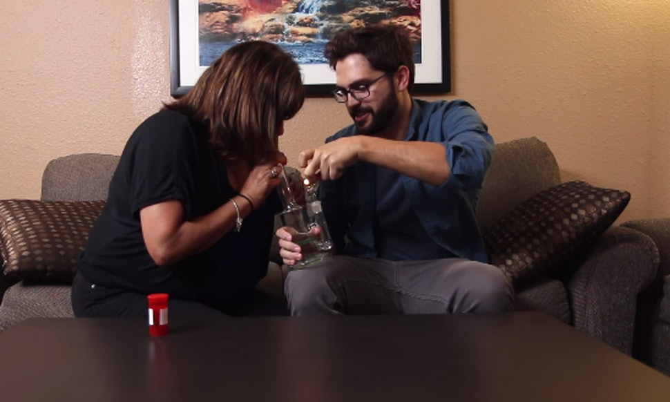 mom and son get high together for the first time and this is what