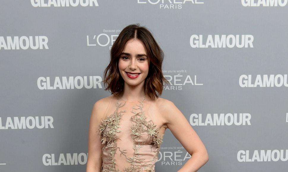 Lily Collins Orange Gown Was Sensational At The Japanese Premier Of