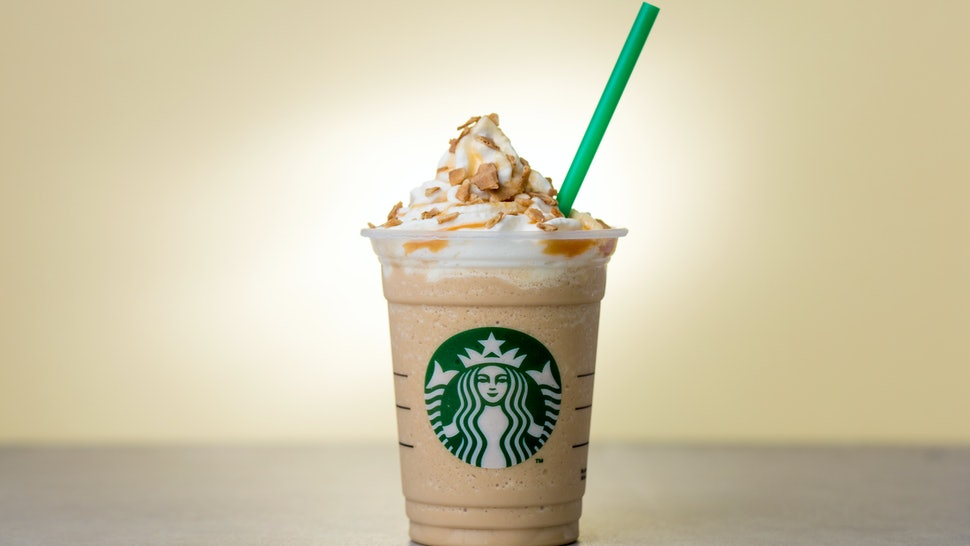 The Starbucks Caramel Waffle Cone Frappuccino Is Here 0180f0445b08