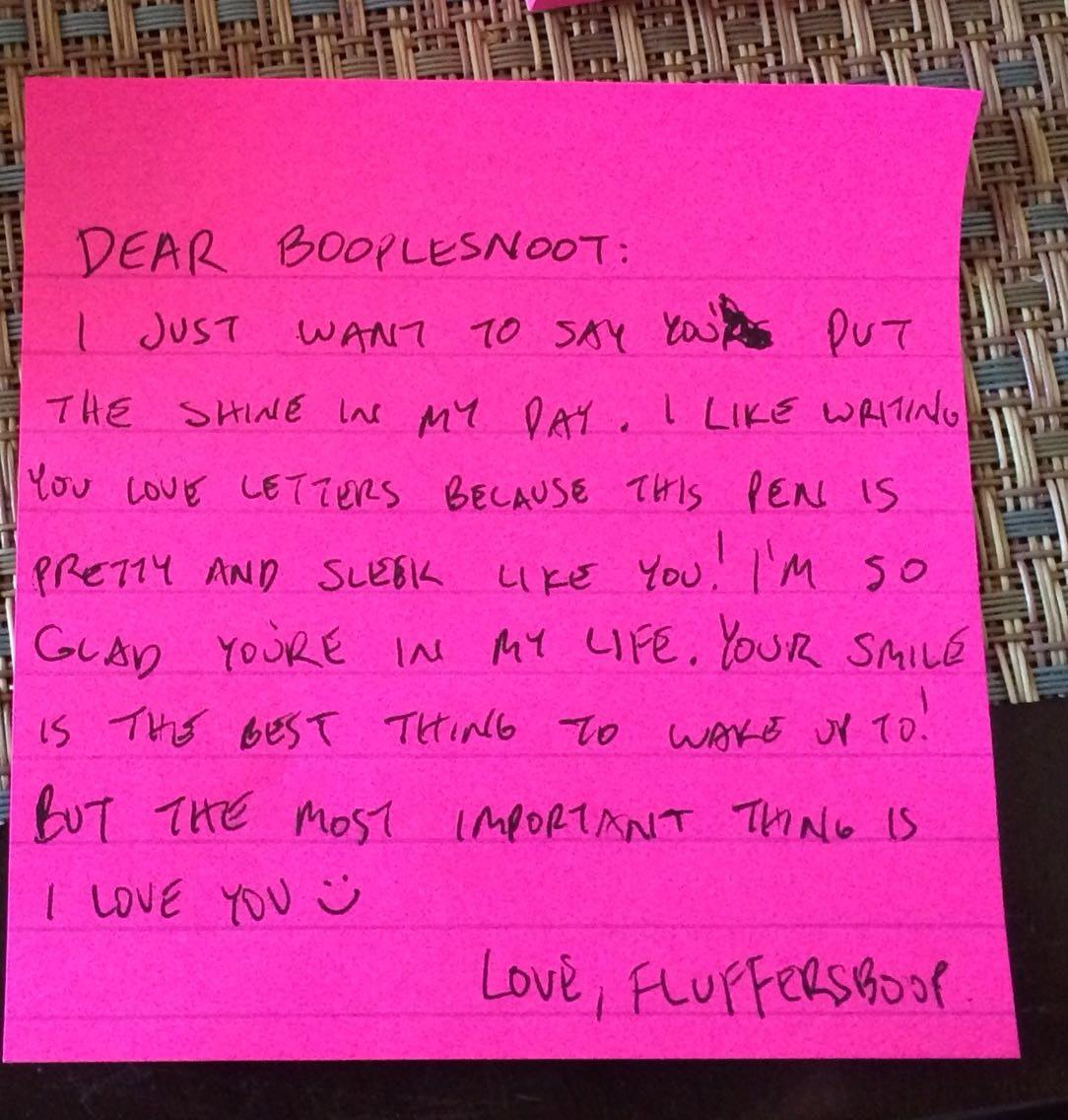 Love letter for a boyfriend from girlfriend