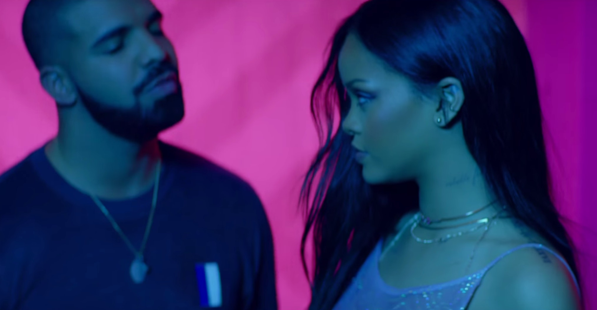 """Which Of Rihanna & Drake's """"Work"""" Music Videos Is The Better"""