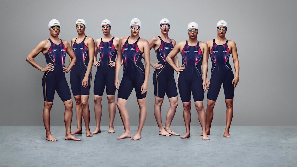 1c09a48786 Who Designed The 2016 USA Olympic Swim Team Suits? It's A Classic Brand —  PHOTOS