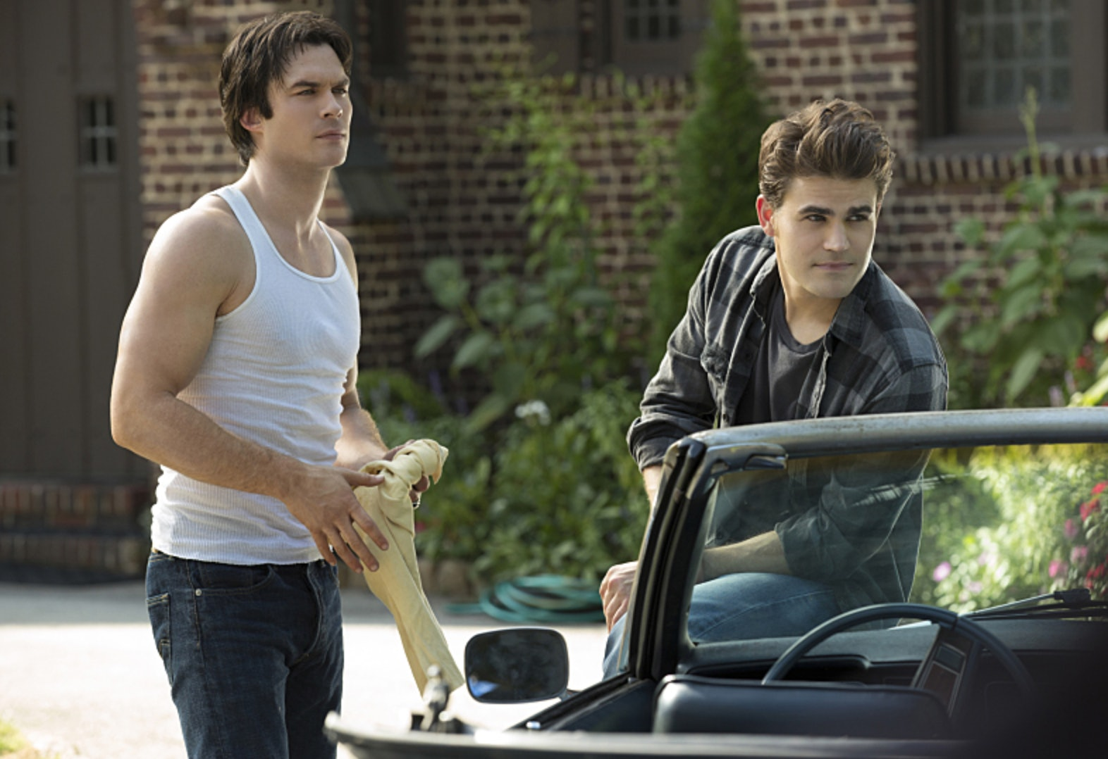 Image result for the vampire diaries stefan and damon