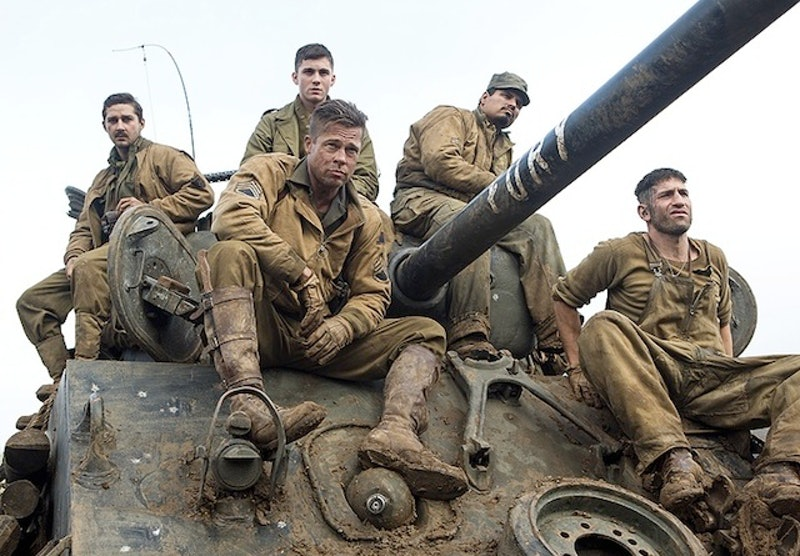 'Fury' cast. Photo via Sony Pictures