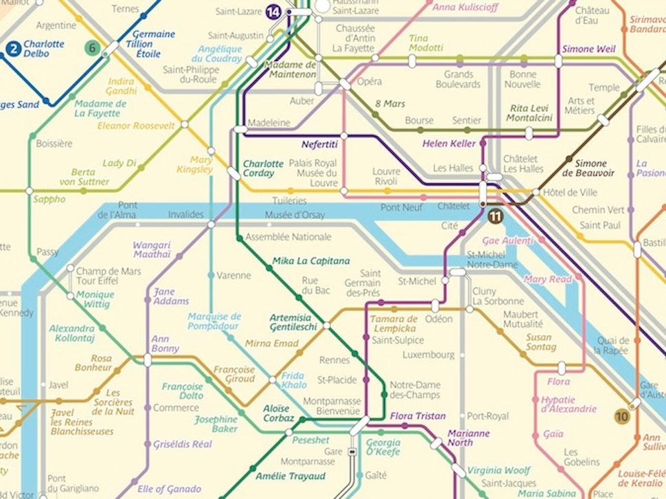 Paris Metro Map 2016.Artist Silvia Radelli Re Imagines Paris Metro Map With Stations