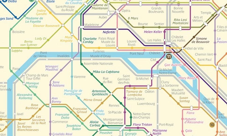 Artist Silvia Radelli ReImagines Paris Metro Map With Stations - Paris metro station map