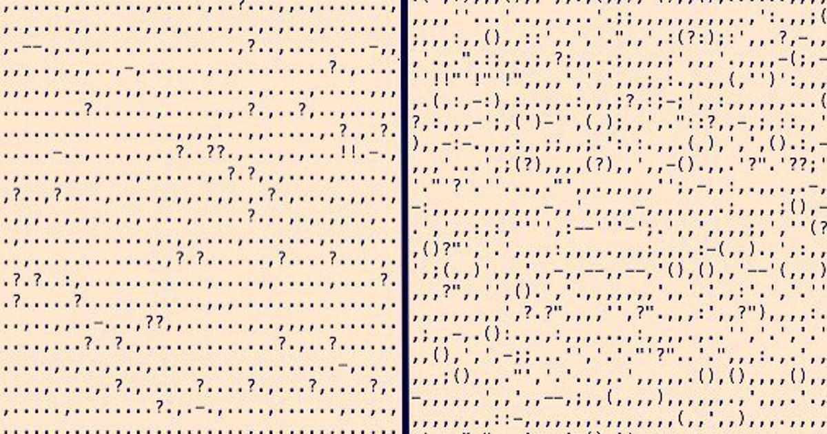 The Punctuation In Classic Books Tells A Story All Of Its Own