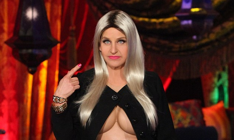 ellen degeneres nicki minaj halloween costume isnt offensive take note julianne hough