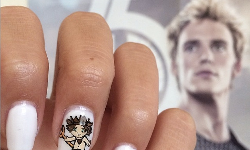 The coolest hunger games nail art on instagram to get you pumped the coolest hunger games nail art on instagram to get you pumped for mockingjay part 1 solutioingenieria Image collections