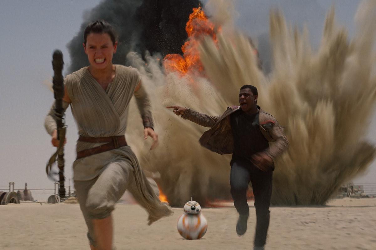 Rubies Star Wars Brown The Force Awakens Rey Staff