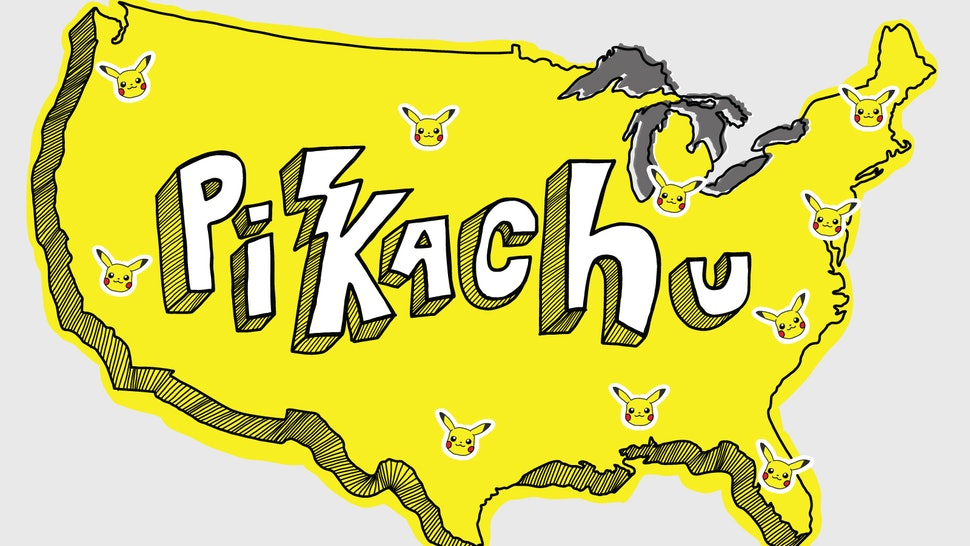 Where To Catch Pikachu In Pokemon Go According To This Helpful Map
