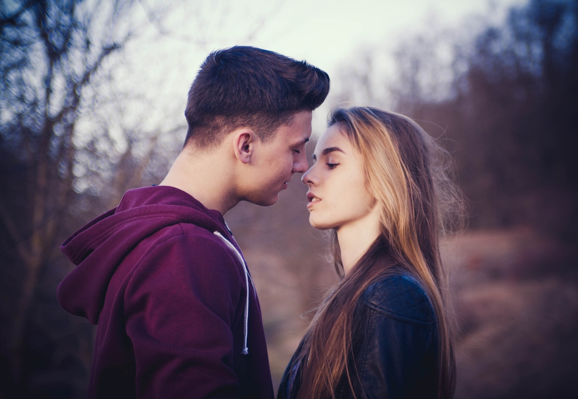 How to lean in for a kiss with a guy