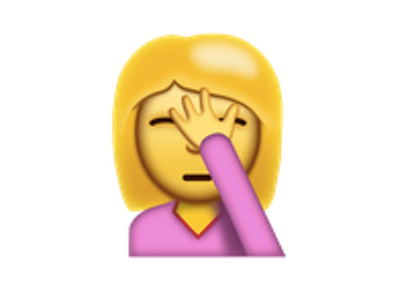 The Face Palm Emoji Is Here To Express What Words Just Cannot Even
