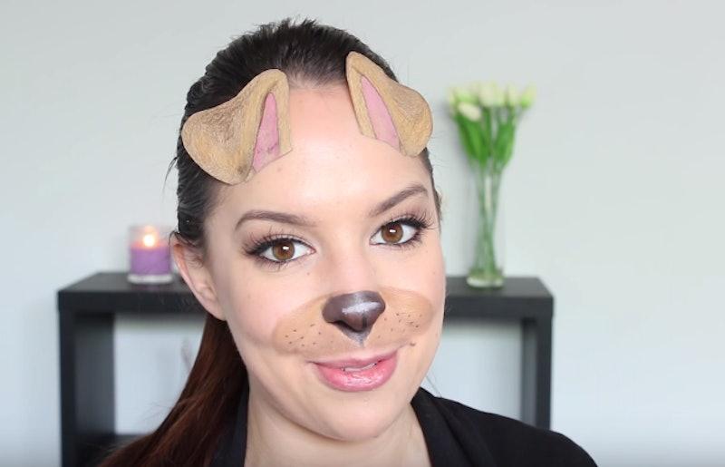 Dog Halloween Makeup.9 Easy Dog Halloween Makeup Tutorials For Pups On Snapchat Beyond Videos