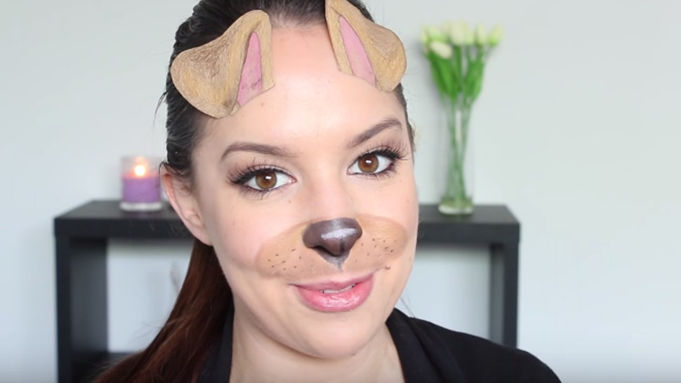 9 Easy Dog Halloween Makeup Tutorials For Pups On Snapchat Beyond
