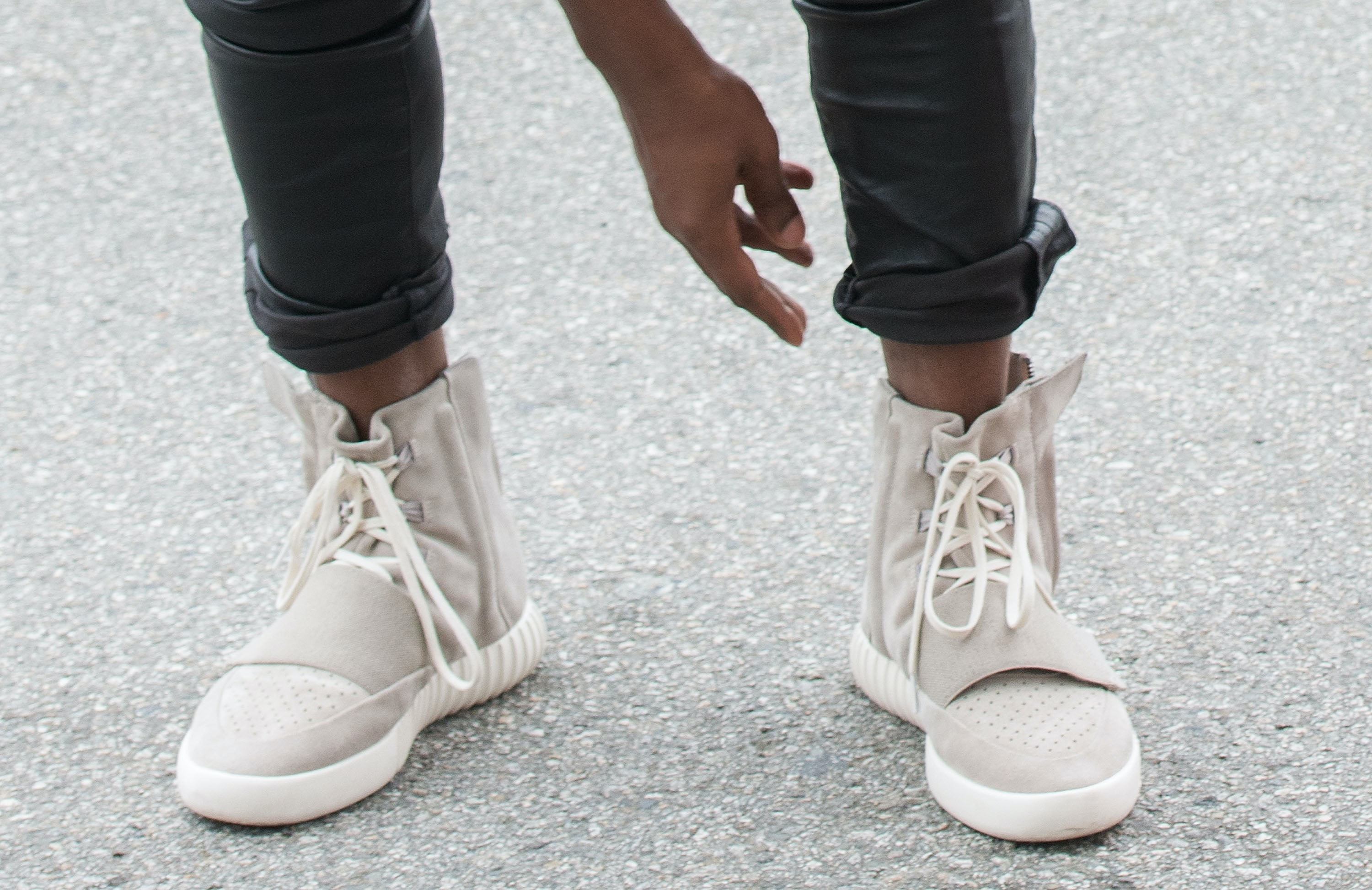 406247377c4ca Kim Kardashian Teases New Yeezy 750s   You re Going To Want Them So Badly —  VIDEO
