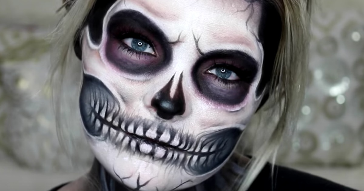 Halloween Make Up Skelet.11 Exposed Skull Halloween Makeup Tutorials For A Deadly
