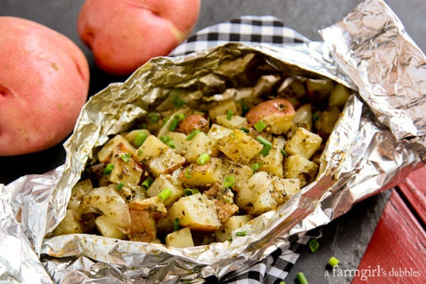 how to cook with foil with a fire