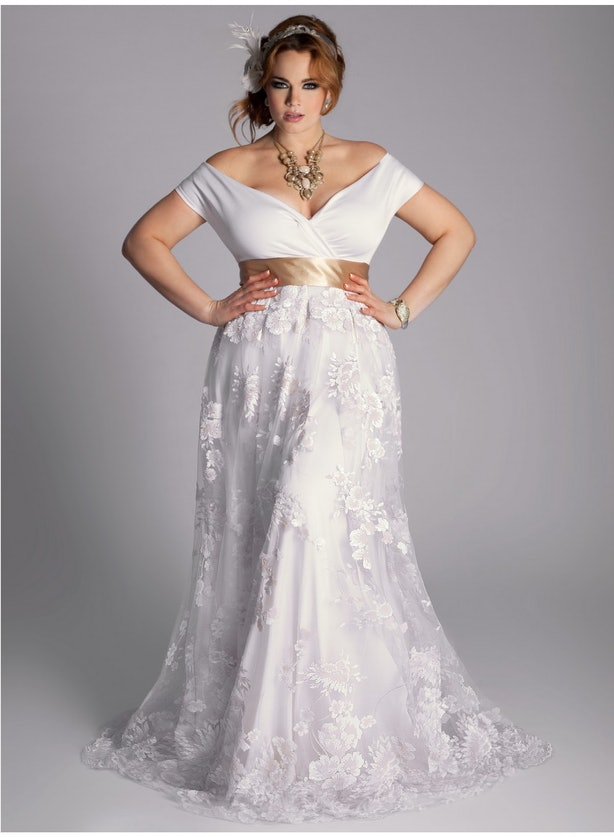 Eugenia Vintage Plus Size Wedding Gown 570