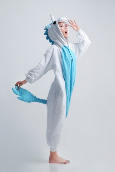 Neigh Guys Blue Unicorn Onesie