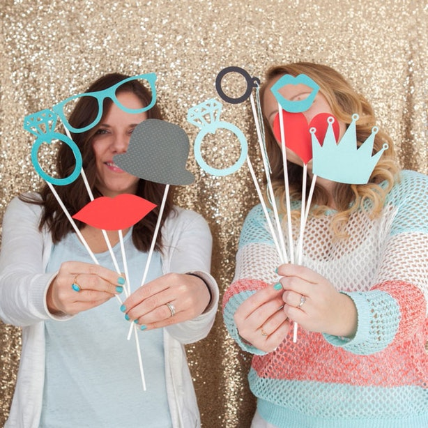12 diy wedding photo booth ideas that will save you money and look dont want to buy props simple make your own the blog something turquoise shows you exactly how to make props like these once you have them solutioingenieria Image collections