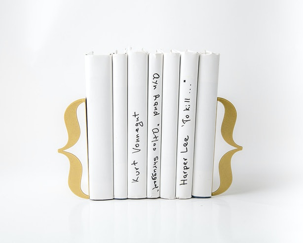 12 Unique Bookends To Give Your Bookshelf Some Extra
