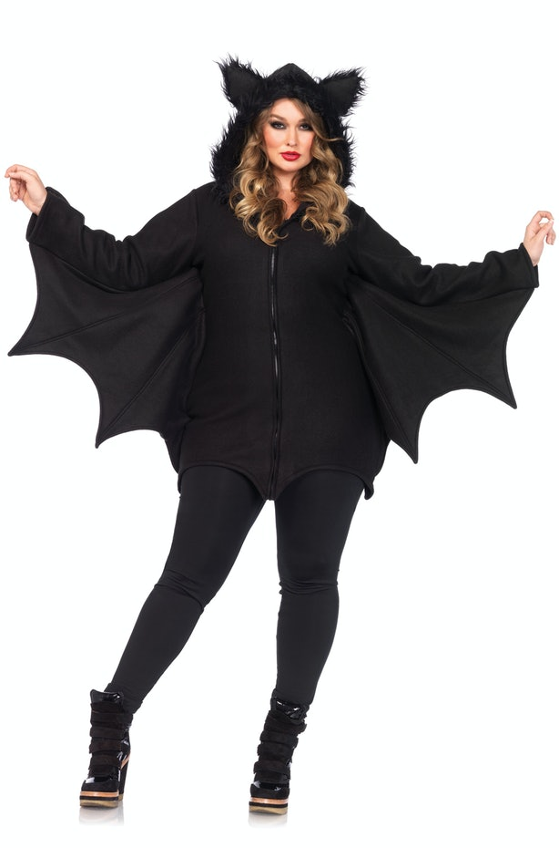 22 cool plus size halloween costumes this cozy fleece costume has a super adorable hood lined with faux fur bat wings and soft ears for the warmest costume you can find solutioingenieria Image collections