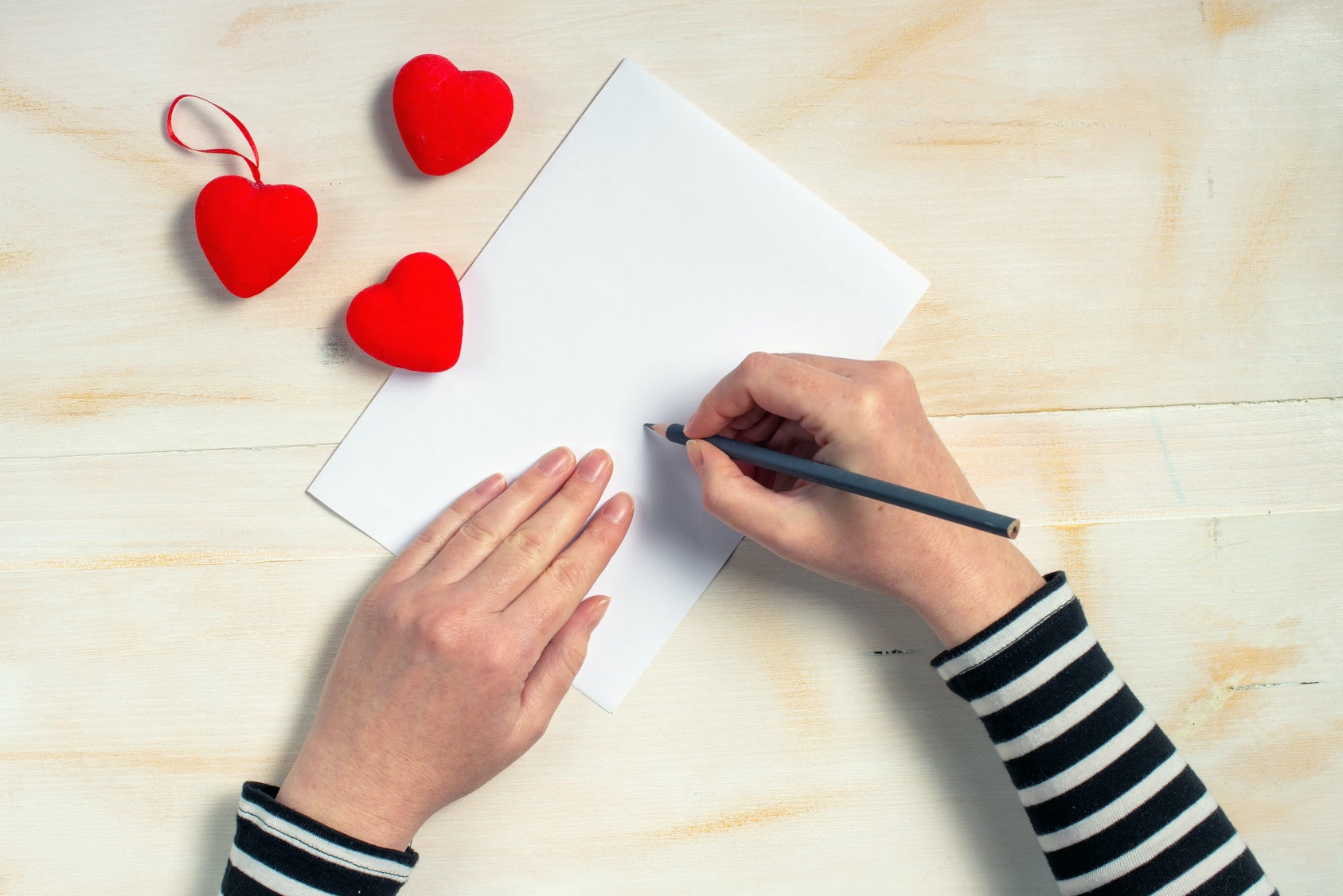 Love writes a letter and sends it to hate