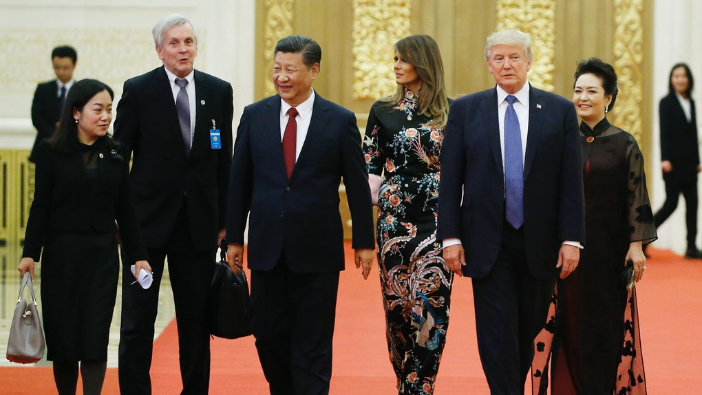 4149b944070 Melania Trump   Michelle Obama s China Visit Dresses Send Totally Different  Messages