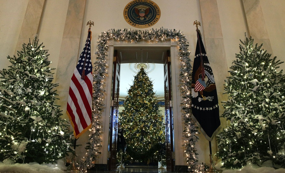 photos of the trump white house christmas decorations show its not as scary as the memes - 2017 White House Christmas Decorations