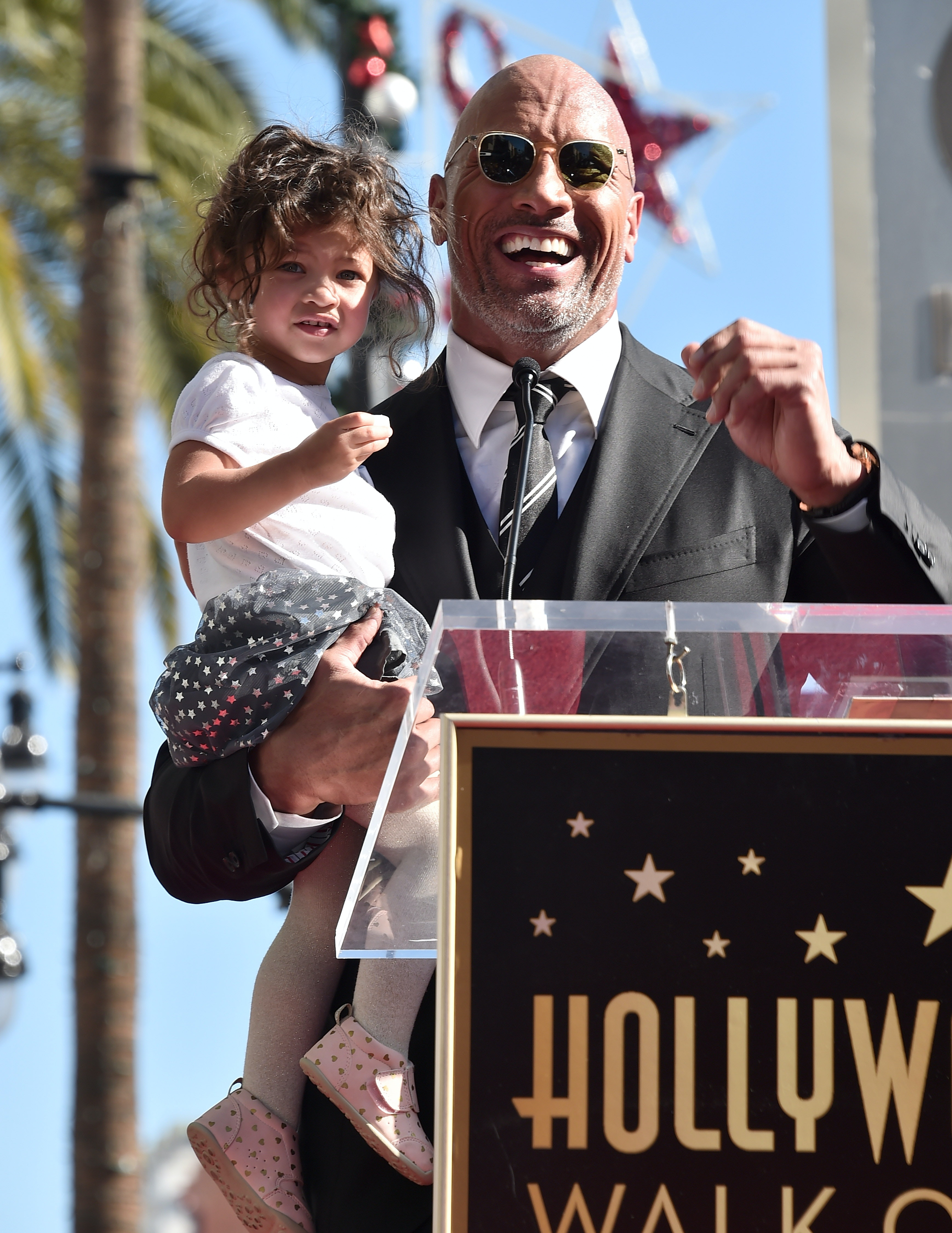 Does the rock have a son