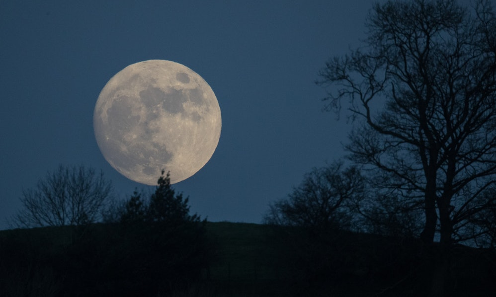 The Meaning Of The Wolf Moon On New Years Day Provides Space To