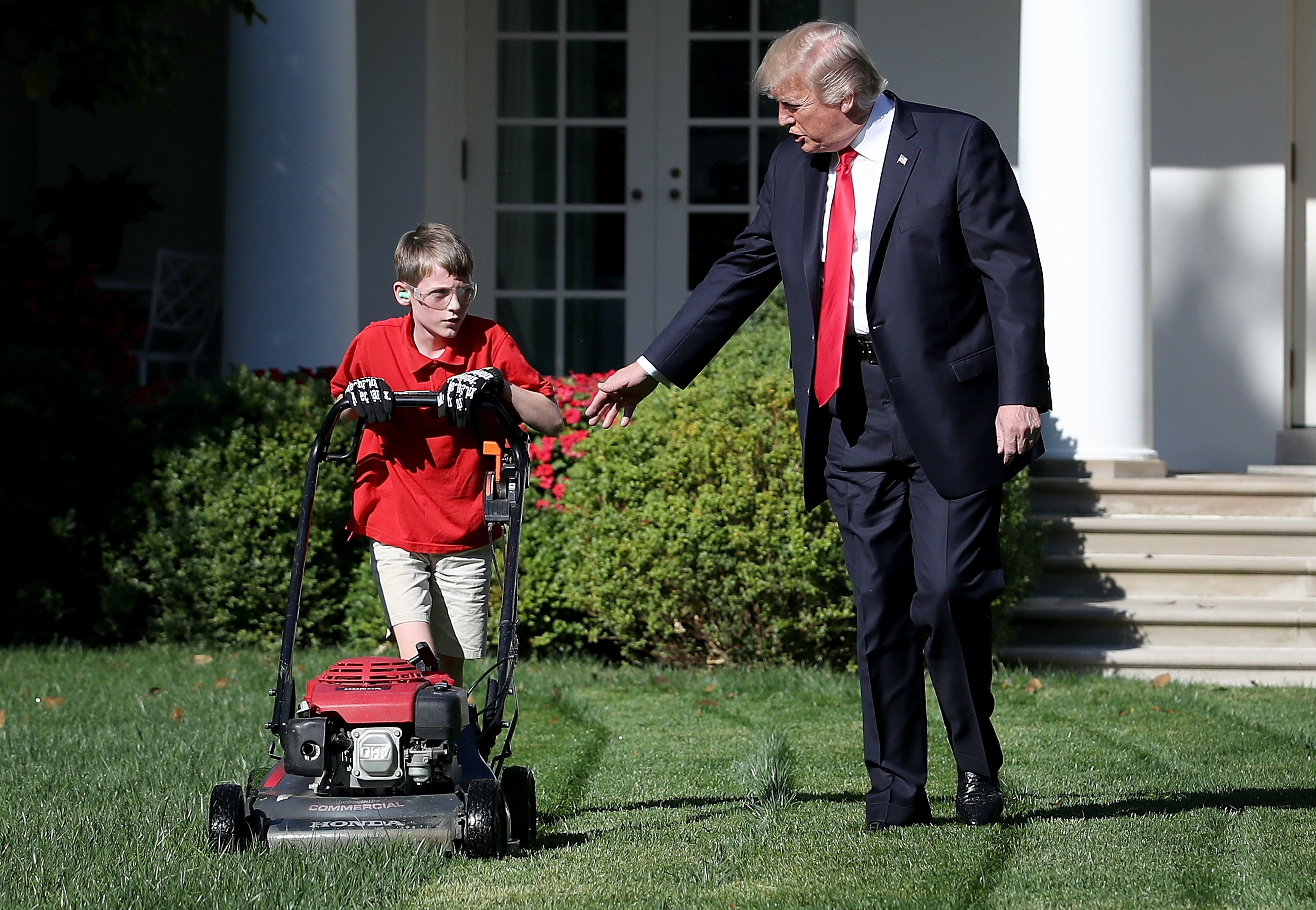 These Memes Of Frank The Lawn Mower Kid Ignoring Trump Will