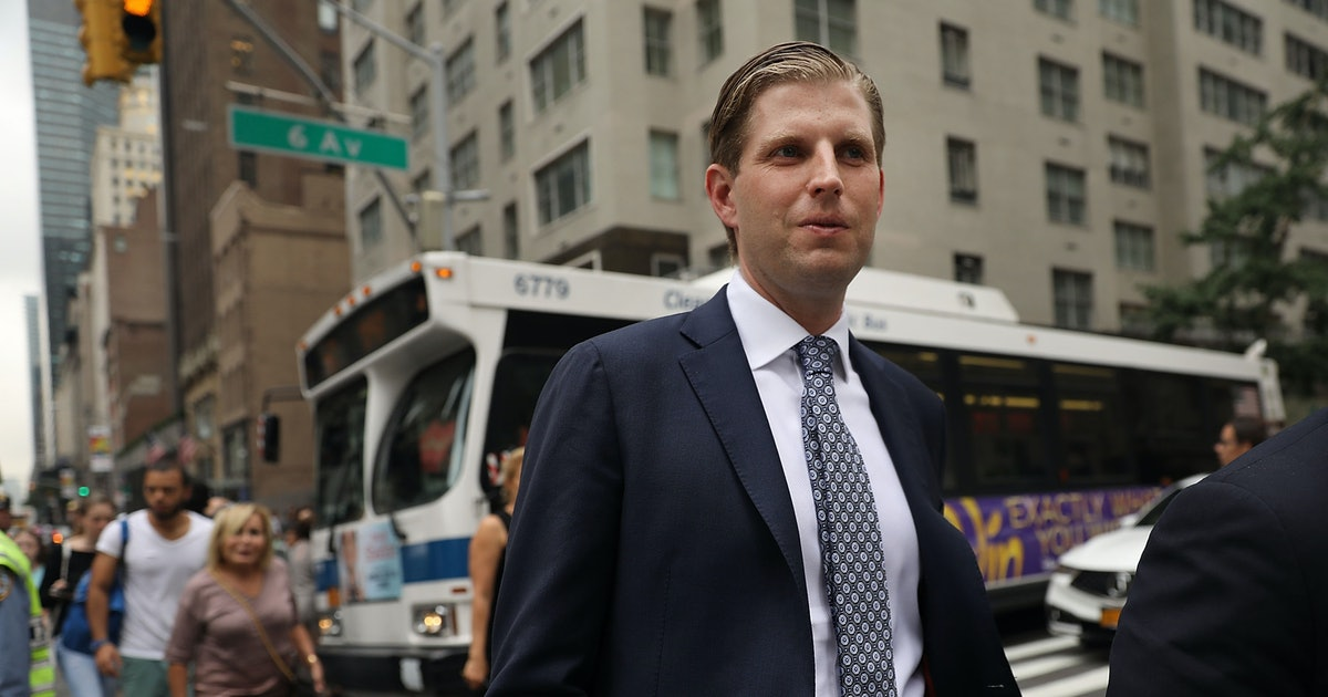 Someone Spit On Eric Trump At A Bar, The President's Son Claims