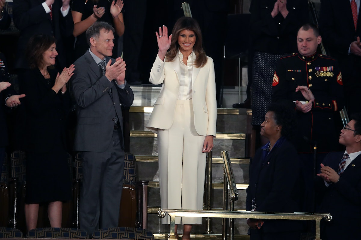 """Melania Trump Didn't Stand Up When Trump Mentioned """"Family & Faith,"""" So Yikes"""