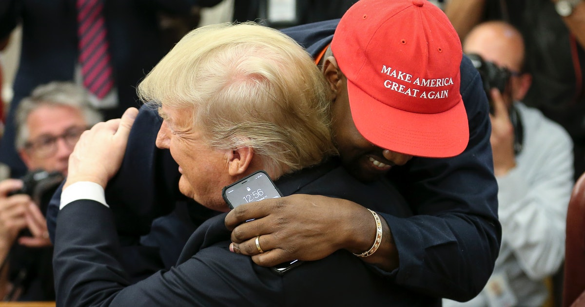 Photos Of Trump & Kanye West Meeting In The Oval Office Are So Surreal