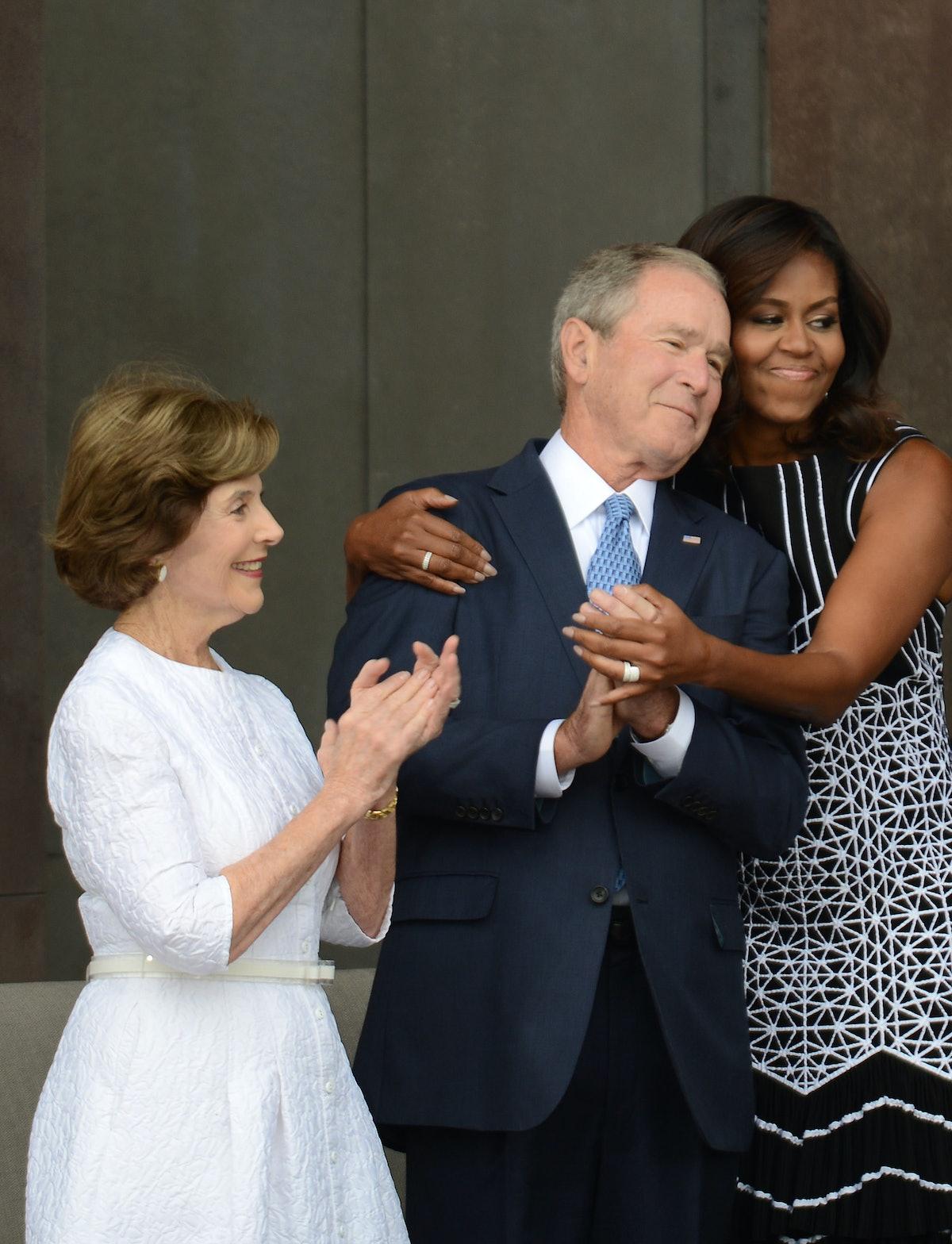 Michelle Obama Explains That George & Laura Bush Moment At John McCain's Funeral
