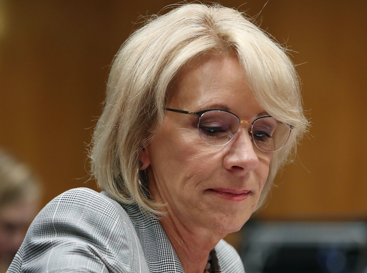 Betsy DeVos' Security Detail From The US Marshals Service Might Cost Nearly $20 Million