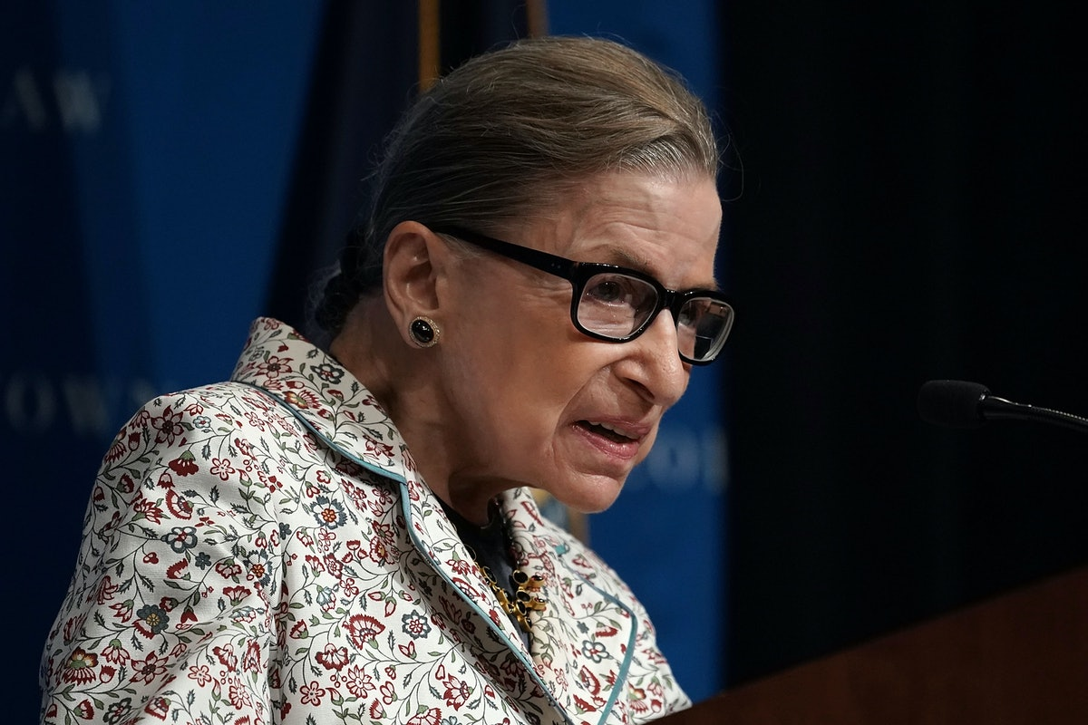 Ruth Bader Ginsburg's White House Appearance Is Her First Public Event Since Her Fall