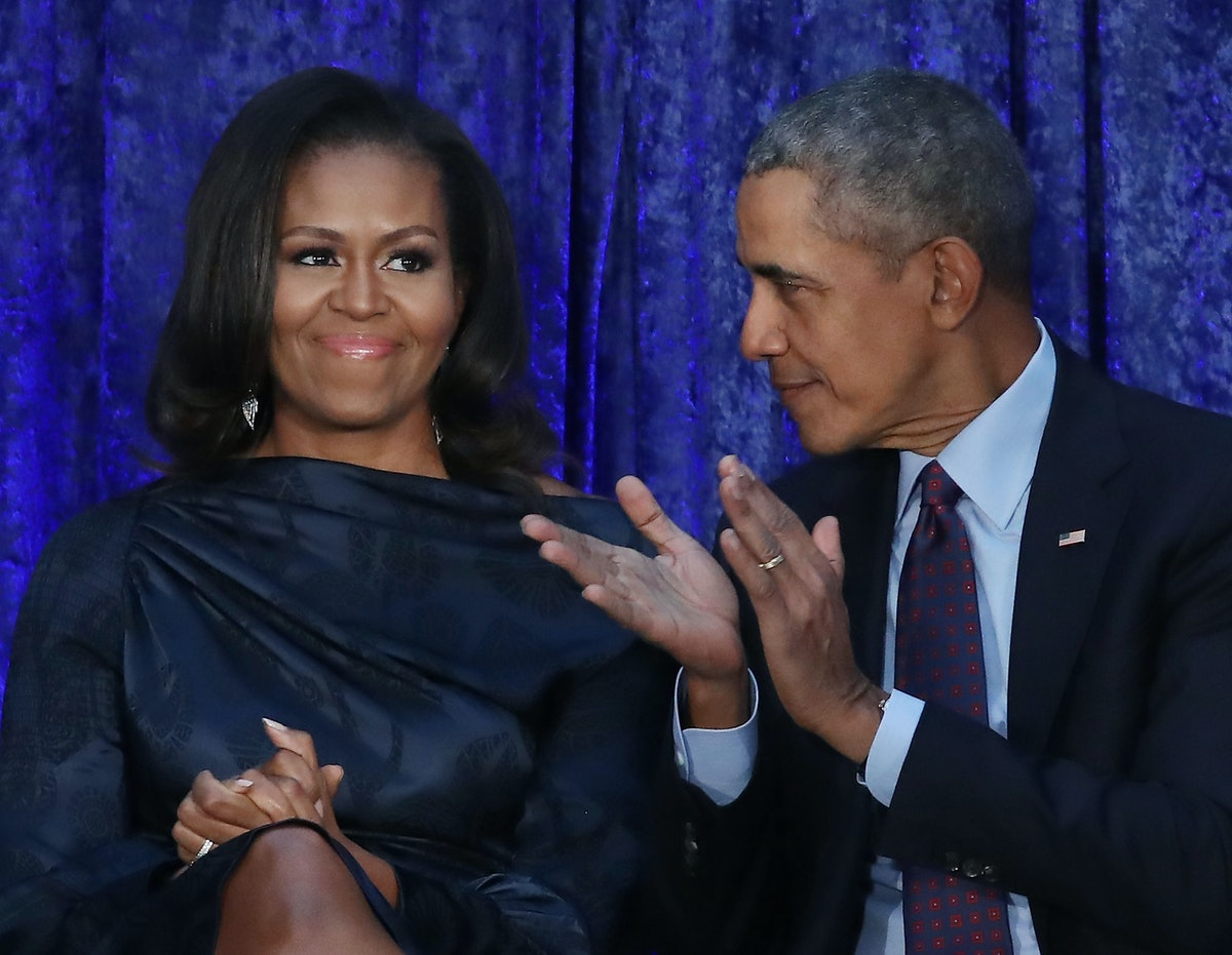 President Obama Surprised Michelle On Her Book Tour And The Crowd Lost It