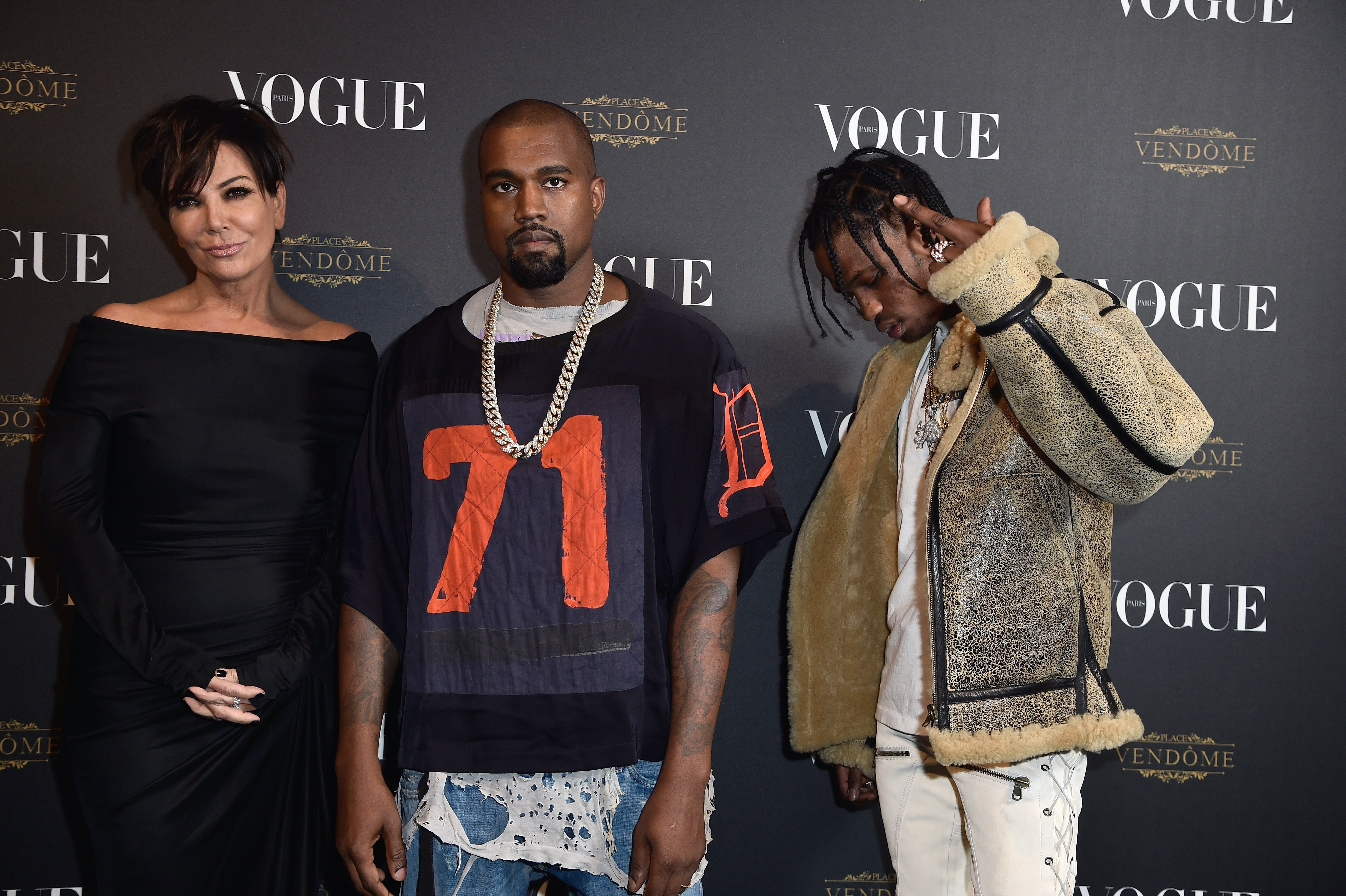 f2fe6dd4e14b Are Kanye West & Travis Scott Friends? Here's What We Know