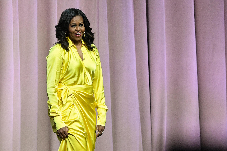 Michelle Obama's Gold Balenciaga Boots